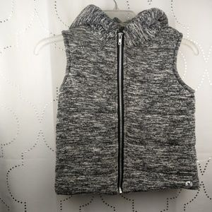 Xersion girls charcoal Gray Puffer vest jacket